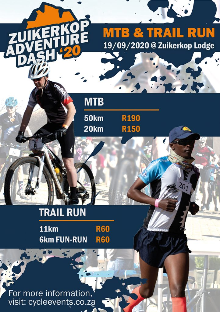 Zuikerkop Adventure Dash 2020 – MTB and Trail Run